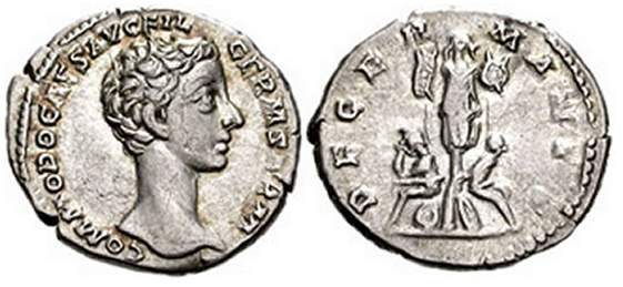 Commodus, Roman Imperial Coins reference at WildWinds com